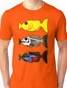 The Hitchhikers Guide to the Galaxy - 3 Babel Fish Unisex T-Shirt