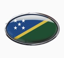 Solomon Islands Flag in Glass Oval by Ovals