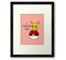 Pokemon Pikachu Valentine's Day Design! (Pink) Framed Print