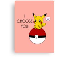 Pokemon Pikachu Valentine's Day Design! (Pink) Canvas Print