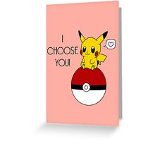 Pokemon Pikachu Valentine's Day Design! (Pink) Greeting Card