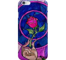 Beauty and the Beast Stain Glass Rose Case iPhone Case/Skin