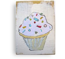 pink purple lavender cupcake! Canvas Print