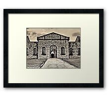 Unwelcome Pathway Framed Print