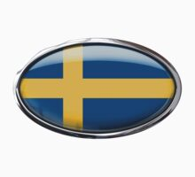 Sweden Flag in Glass Oval by Ovals