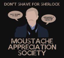 John Watson's Moustache Appreciation Society by LooneyCartoony