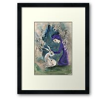 Witch and White Hare Framed Print
