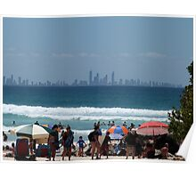 View to Surfers Paradise from Greenmount Beach Poster