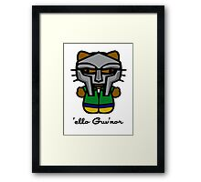 MF DOOM KITTY Framed Print