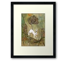 Hare with Standing Stones Framed Print