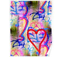 Grafiti Heart Poster