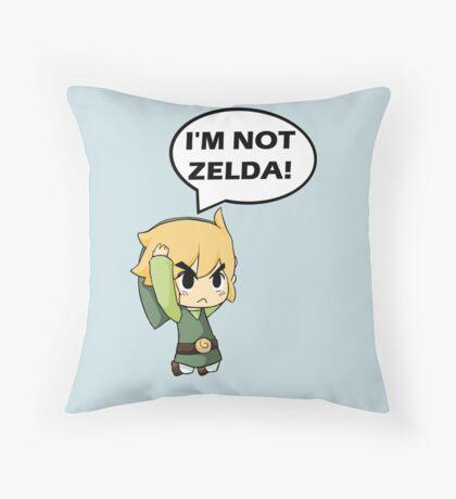 I'm Not Zelda Throw Pillow