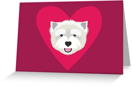 Westie Valentine  by threeblackdots