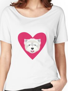 Westie Valentine  Women's Relaxed Fit T-Shirt