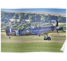 Spitfire VB Scramble - Shoreham Airshow 2013 Poster