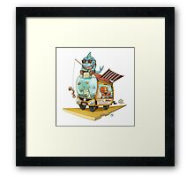Sushi Shuttle Framed Print