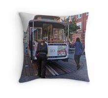 Tram Spinning Throw Pillow