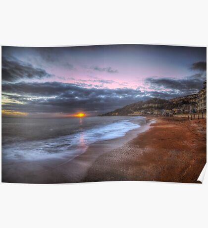 Ventnor Beach sunset Poster