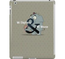 Slick Mr. Elephant & Mr. Mouse iPad case! iPad Case/Skin