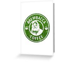 Brewbacca Coffee - Distressed Greeting Card