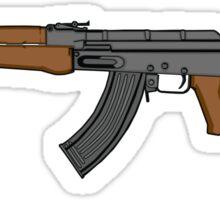 Ak 47 Coloured Sticker