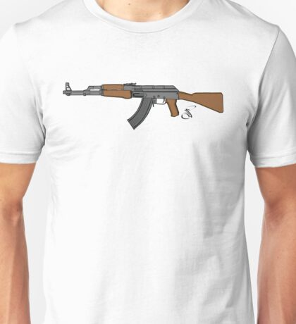 Ak 47 Coloured Unisex T-Shirt