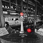 Dimitris Bar, Manchester (selective colour) by Stephen Knowles
