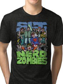 NERD ZOMBIES Tri-blend T-Shirt