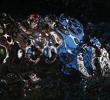 hotel encina mirrored in the river cuale -  ...reflejado en el rio cuale by Bernhard Matejka