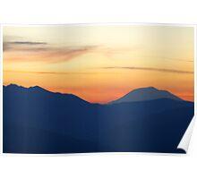 Sunrise from Mount Rainier  Poster
