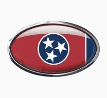 Tennessee Flag in Glass Oval by Ovals