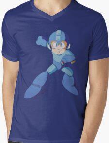 Mega Man 3 - Polygon Mega Man Mens V-Neck T-Shirt