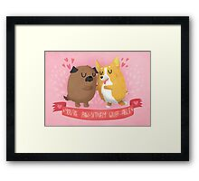 Paw-sitively Wuff-able Valentine's Day Card Framed Print