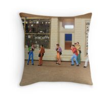 Sylvia, you simply MUST stop referring to our photo group as a flash mob!! Throw Pillow