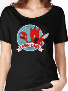 Scizor's Lawn Care Black Shirt Women's Relaxed Fit T-Shirt