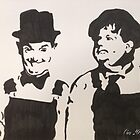 Laurel & Hardy by Clare Shailes