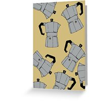 coffeepot pattern Greeting Card