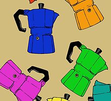 coffeepot colorful pattern by Logan81