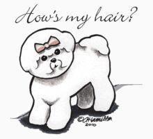 Bichon Hows My Hair? by offleashart