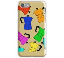 coffeepot colorful pattern iPhone Case/Skin
