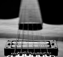 Guitar Strings Black and White by Eric Ziegler
