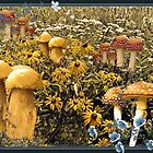 Giant Golden Mushrooms by Linda Miller Gesualdo