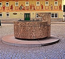 The village fountain of Kronstorf | architectural photography by Patrick Jobst