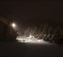 Snow at Nightfall by Mina Bugic
