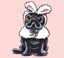 Grumpy Pug Bunny Pink One Piece - Short Sleeve