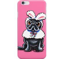 Grumpy Pug Bunny Pink iPhone Case/Skin