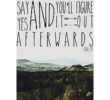 Say Yes Photographic Print