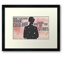 Rescue Me, Chin Boy Framed Print
