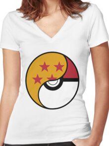 Dragon Ball x Pokemon Women's Fitted V-Neck T-Shirt