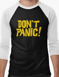 The Hitchhikers Guide to the Galaxy - Don't Panic Men's Baseball ¾ T-Shirt